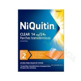 NIQUITIN CLEAR 14 MG, 24 HORAS PARCHE TRANSDERMICO, 7 PARCHES TRANSDERMICOS