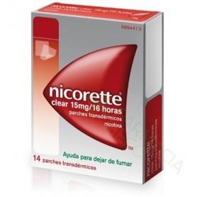 NICORETTE CLEAR 15 MG/16 HORAS PARCHES TRANSDERMICOS , 14 PARCHES