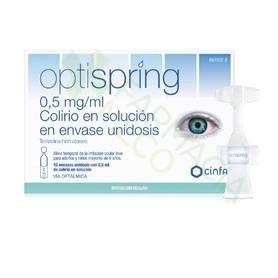 OPTISPRING 0,5 MG/ML COLIRIO EN SOLUCION EN ENVASES UNIDOSIS , 10 ENVASES UNIDOSIS DE 0,5 ML